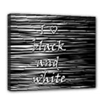 I love black and white Deluxe Canvas 24  x 20