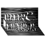 I love black and white Happy Birthday 3D Greeting Card (8x4)