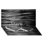 I love black and white Twin Heart Bottom 3D Greeting Card (8x4)