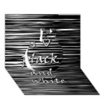 I love black and white Apple 3D Greeting Card (7x5)