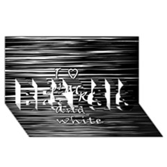I Love Black And White Best Sis 3d Greeting Card (8x4)