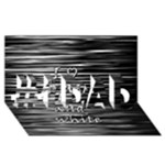 I love black and white #1 DAD 3D Greeting Card (8x4)