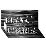 I love black and white Best Wish 3D Greeting Card (8x4)