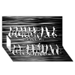 I Love Black And White Congrats Graduate 3d Greeting Card (8x4)