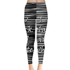 I love black and white Leggings