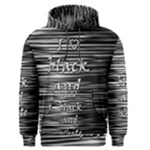 I love black and white Men s Pullover Hoodie
