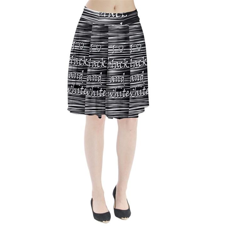 I love black and white Pleated Skirt