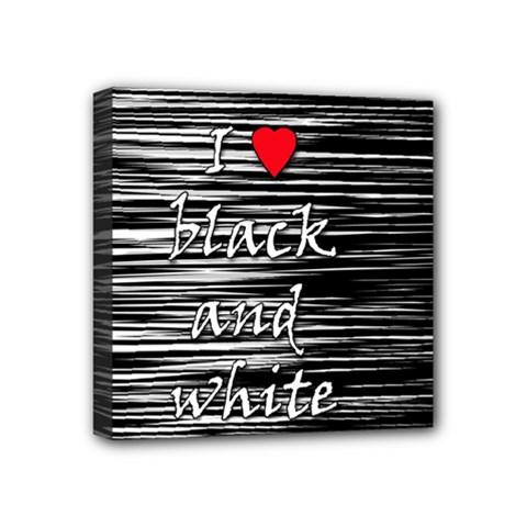 I love black and white 2 Mini Canvas 4  x 4