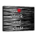 I love black and white 2 Canvas 16  x 12  View1