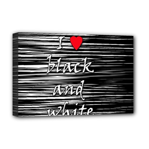 I Love Black And White 2 Deluxe Canvas 18  X 12