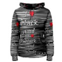 I love black and white 2 Women s Pullover Hoodie View1