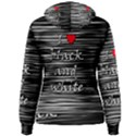 I love black and white 2 Women s Pullover Hoodie View2