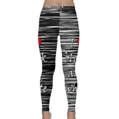 I love black and white 2 Yoga Leggings