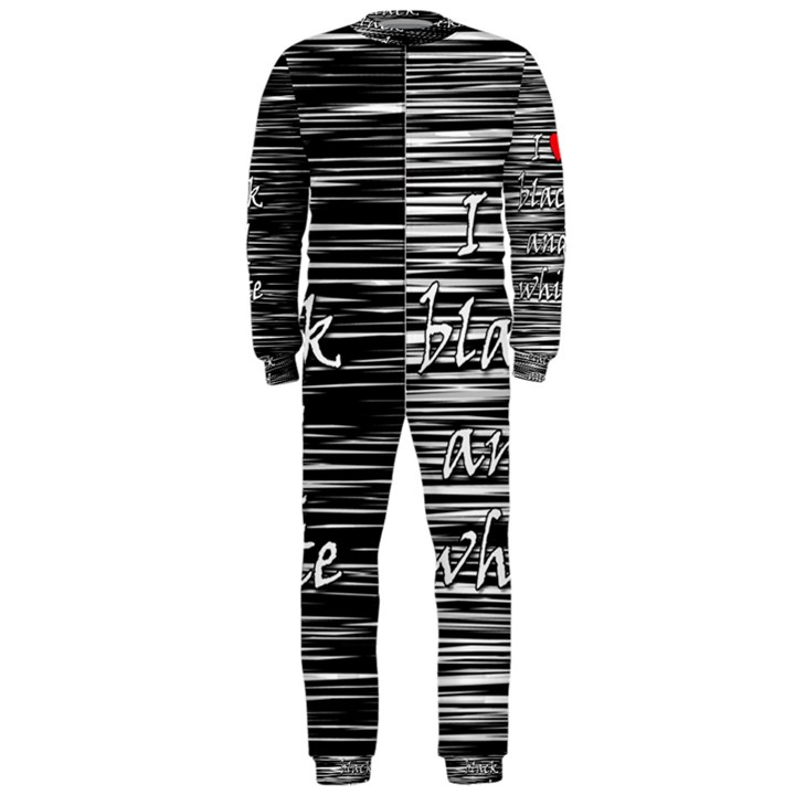 I love black and white 2 OnePiece Jumpsuit (Men)