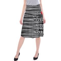 I love black and white 2 Midi Beach Skirt