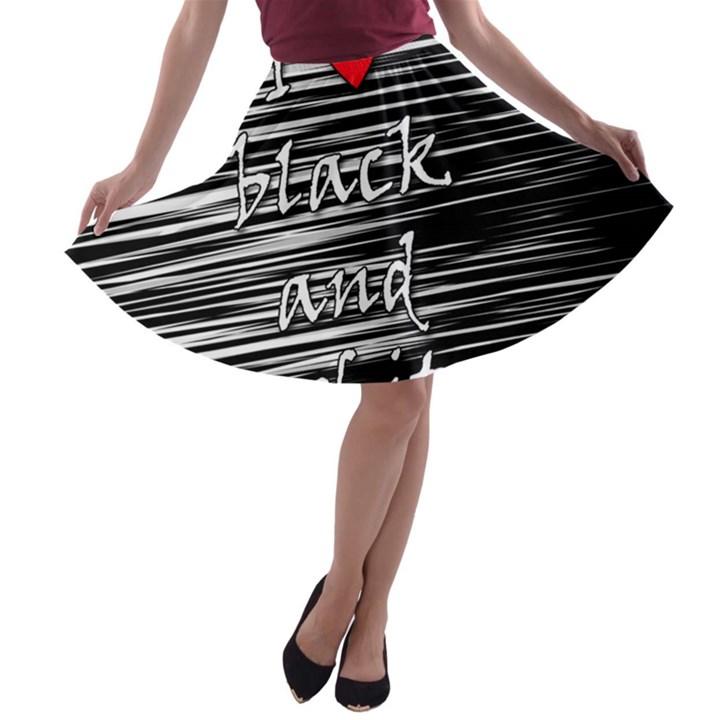 I love black and white 2 A-line Skater Skirt