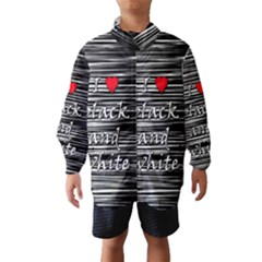 I Love Black And White 2 Wind Breaker (kids)