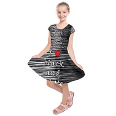 I love black and white 2 Kids  Short Sleeve Dress by Valentinaart