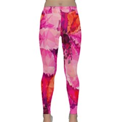 Geometric Magenta Garden Yoga Leggings
