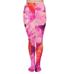 Geometric Magenta Garden Tights