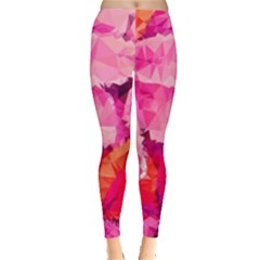 Geometric Magenta Garden Leggings