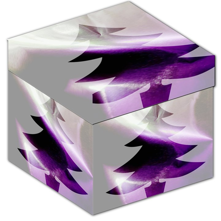 Purple Christmas Tree Storage Stool 12