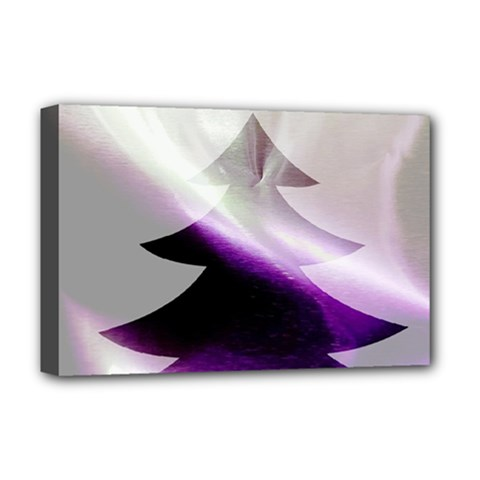 Purple Christmas Tree Deluxe Canvas 18  X 12   by yoursparklingshop