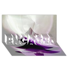 Purple Christmas Tree Engaged 3d Greeting Card (8x4)