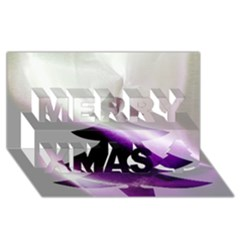 Purple Christmas Tree Merry Xmas 3d Greeting Card (8x4) by yoursparklingshop