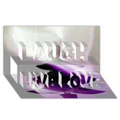 Purple Christmas Tree Laugh Live Love 3d Greeting Card (8x4)