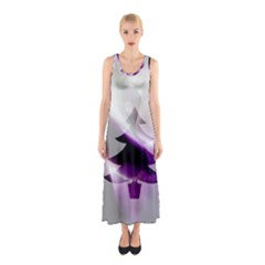 Purple Christmas Tree Sleeveless Maxi Dress by yoursparklingshop