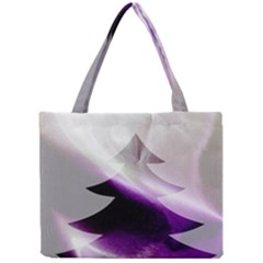Purple Christmas Tree Mini Tote Bag by yoursparklingshop