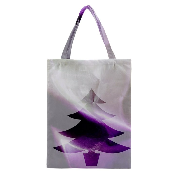 Purple Christmas Tree Classic Tote Bag