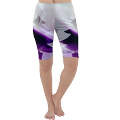 Purple Christmas Tree Cropped Leggings