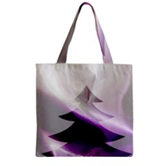 Purple Christmas Tree Zipper Grocery Tote Bag by yoursparklingshop