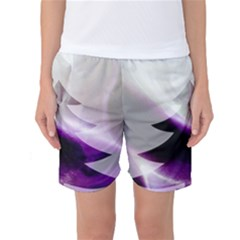 Purple Christmas Tree Women s Basketball Shorts by yoursparklingshop
