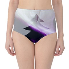 Purple Christmas Tree High Waist Bikini Bottoms