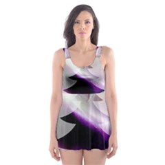 Purple Christmas Tree Skater Dress Swimsuit by yoursparklingshop