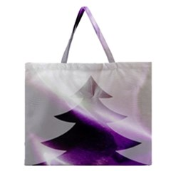 Purple Christmas Tree Zipper Large Tote Bag by yoursparklingshop