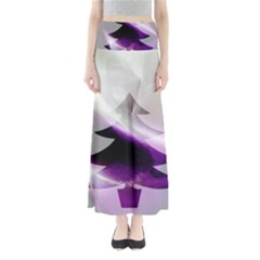 Purple Christmas Tree Maxi Skirts