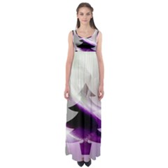 Purple Christmas Tree Empire Waist Maxi Dress by yoursparklingshop