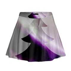 Purple Christmas Tree Mini Flare Skirt by yoursparklingshop