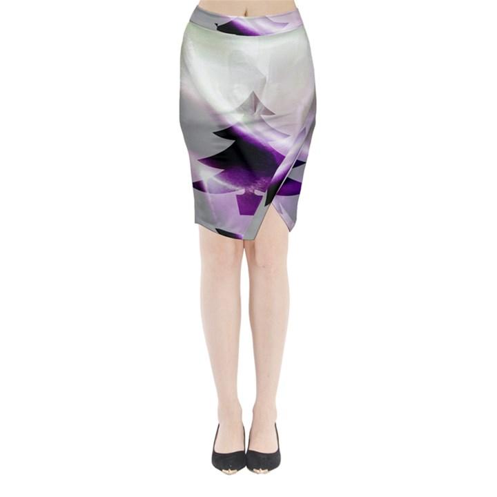 Purple Christmas Tree Midi Wrap Pencil Skirt