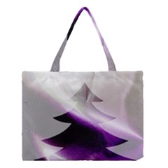 Purple Christmas Tree Medium Tote Bag by yoursparklingshop