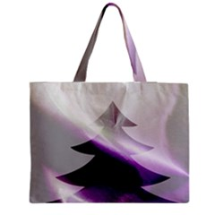 Purple Christmas Tree Medium Zipper Tote Bag by yoursparklingshop