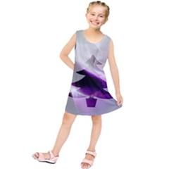Purple Christmas Tree Kids  Tunic Dress