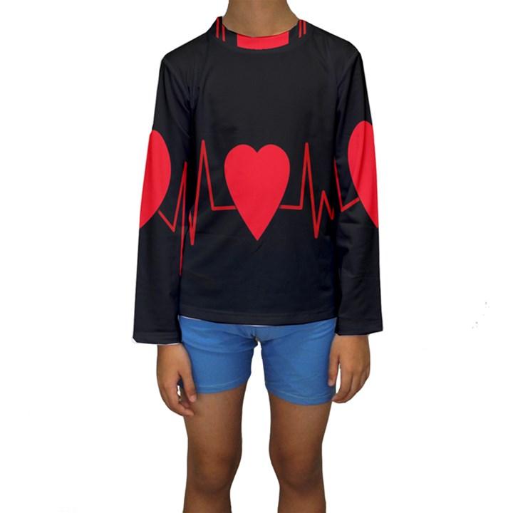 Hart bit Kids  Long Sleeve Swimwear