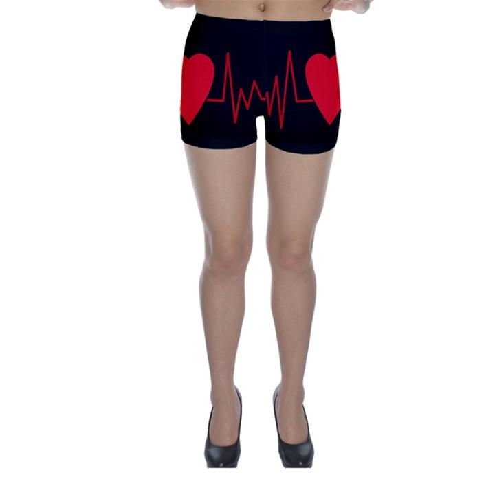 Hart bit Skinny Shorts