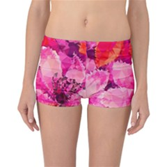 Geometric Magenta Garden Reversible Boyleg Bikini Bottoms