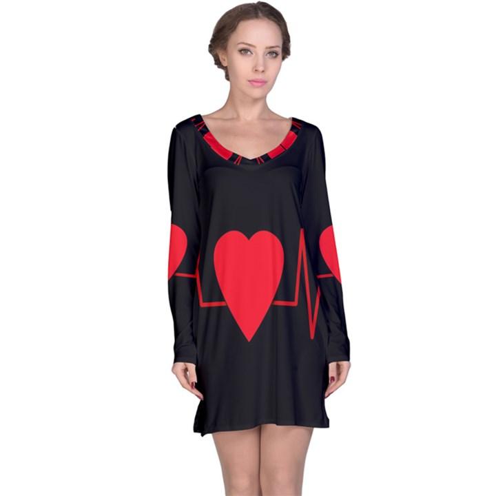 Hart bit Long Sleeve Nightdress